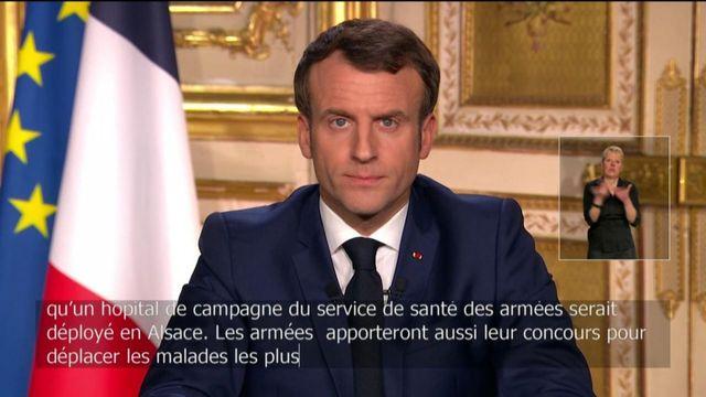 """""""Un hôpital de campagne de l'armée sera déployé en Alsace"""", annonce Emmanuel Macron"""