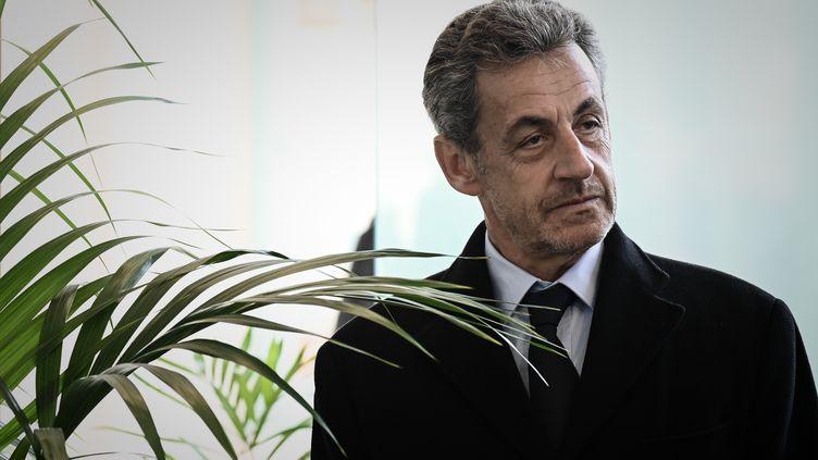 L'ancien président Nicolas Sarkozy, le 21 mars 2019 à Paris. (PHILIPPE LOPEZ / AFP)
