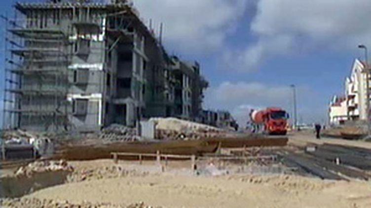 Construction dans l'implantation d'Ariel, en Cisjordanie (archives, février 2009) (France 2)