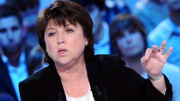 Martine Aubry est opposée à l'Hadopi. (AFP - MIGUEL MEDINA)