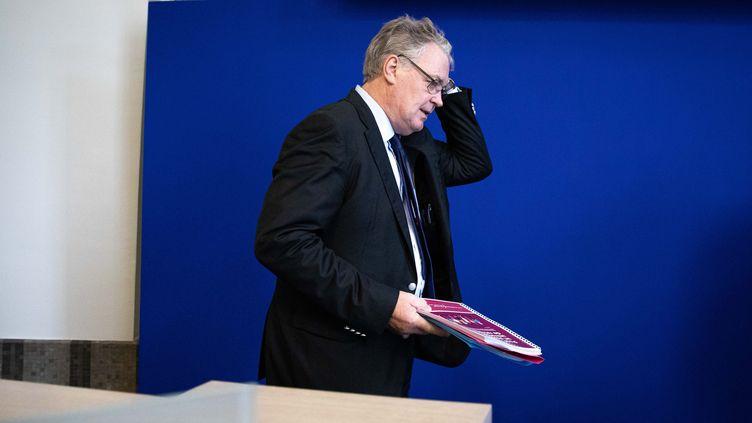Jean-Paul Delevoye,haut-commissaire à la réforme des retraites, lors de la présentation de son rapport, le 18 juillet. (CHRISTOPHE MORIN / MAXPPP)