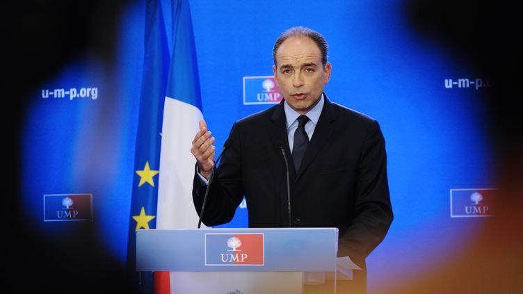 Jean-Francois Copé, le secrétaire général de l'UMP, le 17 juin 2012, au siège du parti àParis. (BERTRAND GUAY / AFP)