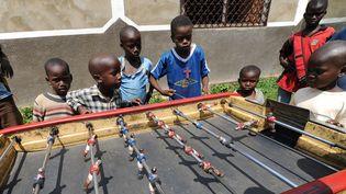Camp pour enfants de l'Unicef, lecamp de Don Bosco à Bangui (Centrafrique), le 13 décembre 2013 (SIA KAMBOU / AFP)