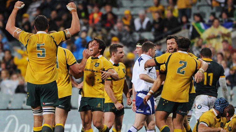 L'Australie arrache la victoire sur l'Afrique du Sud (GREG WOOD / AFP)