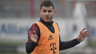 Le défenseur Lucas Hernandez, le 12 octobre 2021 à Munich (Allemagne). (FRANK HOERMANN / SVEN SIMON / AFP)