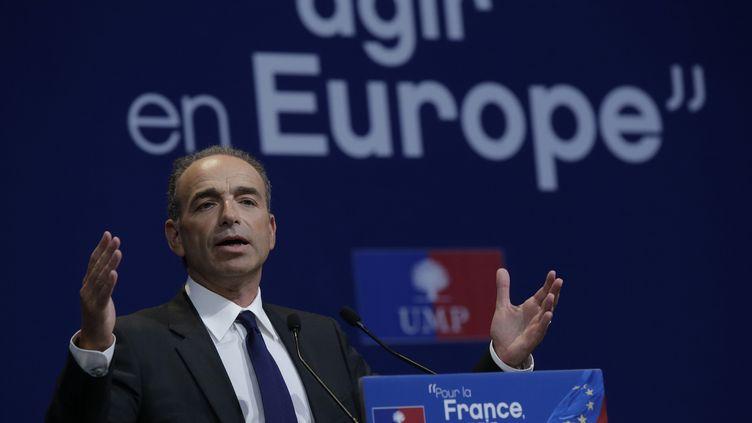 Jean-François Copé, le président de l'UMP, au meeting de l'UMP pour les élections européennes à Paris, le 21 mai 2014. (JACKY NAEGELEN / REUTERS)