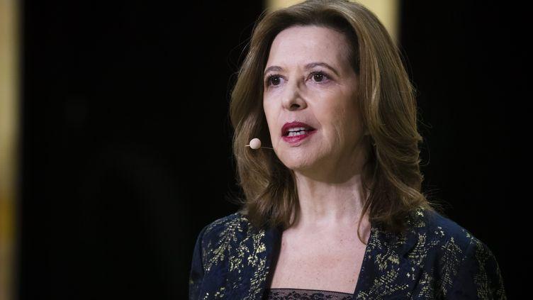 Sophie Bellonchez Sodexo est l'une des deux femmes présidentes de conseils d'administrationdes plus grandes entreprises françaises avec Anne-Marie Couderc chez Air France. (MAXPPP)