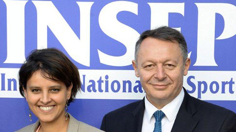 Najat Vallaud-Belkacem et Thierry Braillard (PIERRE ANDRIEU / AFP)