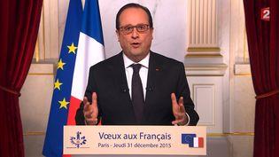 Le président François Hollande a présenté ses vœux aux Français, jeudi 31 décembre au soir. (AFP)