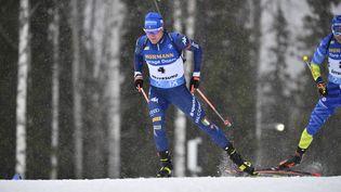 Lukas Hofer a remporté le dernier sprint de la saison à Östersund (Suède) (ANDERS WIKLUND / TT NEWS AGENCY)