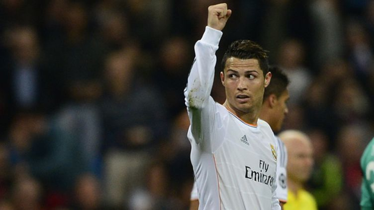La joie de l'attaquant du Real Cristiano Ronaldo (JAVIER SORIANO / AFP)