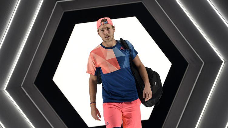 Le tennisman français Lucas Pouille (MIGUEL MEDINA / AFP)
