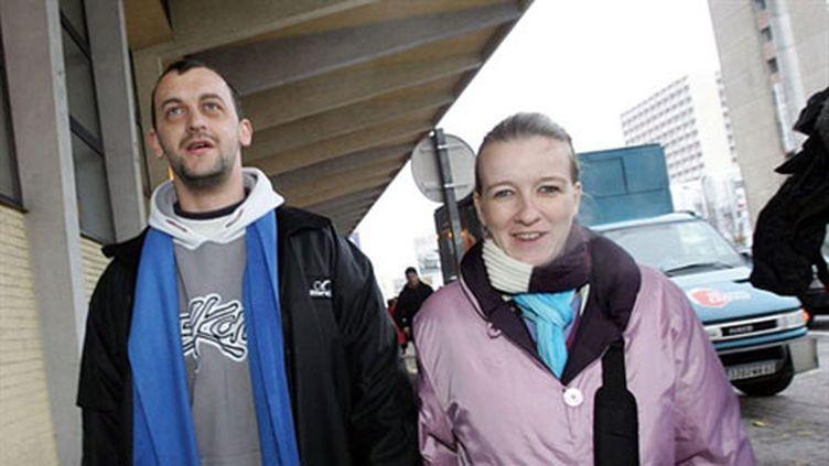 Frank Lavier et Sandrine Lavier, le 2 décembre 2005 à Boulogne sur Mer (AFP/François Lo Presti)