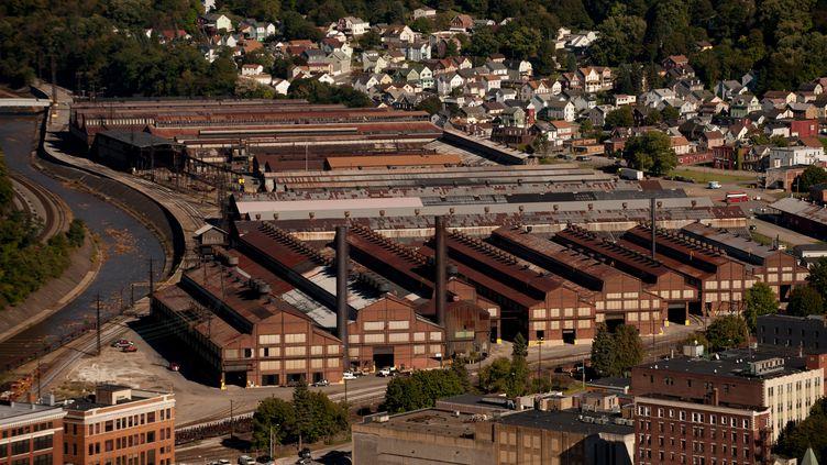 Johnstown, en Pennsylvanie, a souffert de la désindustrialisationdans les années 1970, a voté en faveur du candidat républicain en 2016. (AFP / JEFF SWENSEN)