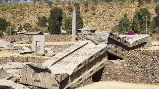 Le site d'Axoum, dans le nord de l'Ethiopie, inscrit au Patrimoine mondial de l'Unesco. Photo prise le 23-02-2013. (LEROY FRANCIS / HEMIS.FR)