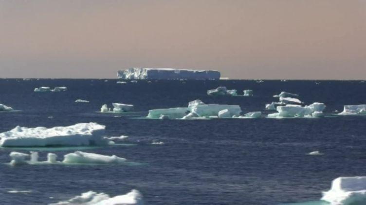 Les icebergs sont un danger pour les skippers du Vendée Globe. (France 3)