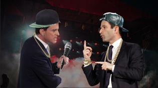 Dr. Valls et MC Hamon, les alter ego rappeurs de Manuel Valls et Benoît Hamon imaginés par franceinfo après leur débat, mercredi 25 janvier. (FRANCEINFO)
