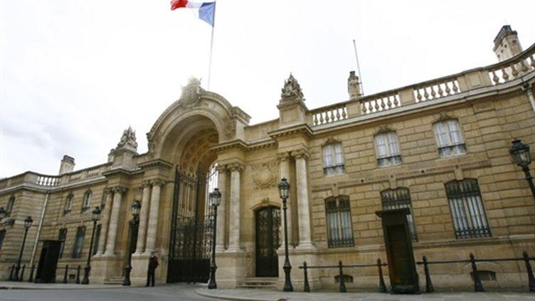 L'entrée de Palais de l'Elysée, résidence officielle de la présidence de la république française. (AFP PHOTO FRED DUFOUR)