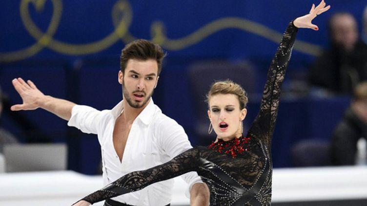 Gabriella Papadakis et Guillaume Cizeron (JONATHAN NACKSTRAND / AFP)