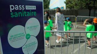 Pass sanitaire : baisse de fréquentation dans les parcs d'attraction (France 2)