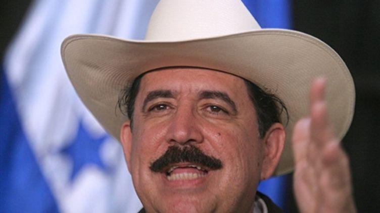 Le président évincé du Honduras, Manuel Zelaya, le 6 juillet 2009 à Managua, au Nicaragua (© AFP/MAYERLING GARCIA)