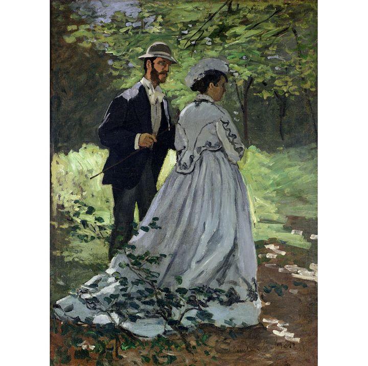 """Claude Monet (1840-1926) """"Les Promeneurs"""". Étude pour """"Le Déjeuner sur l'herbe"""", 1865; Washington, National Gallery of Art, Ailsa  (© Washington, National Gallery of Art)"""