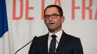 Gros plan sur le programme économique que défend Benoît Hamon en vue de la présidentielle. (QUENTIN VEUILLET /WOSTOK PRESS / MAXPPP)
