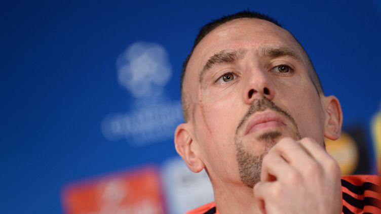 L'attaquant français du Bayern Munich, Franck Ribery, ici en conférence de presse. (ANDREAS GEBERT / DPA)