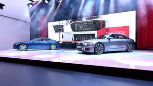 La nouvelle Audi A6 exposée au salon de Genève (Suisse), le 6 mars 2018. (HAROLD CUNNINGHAM / AFP)
