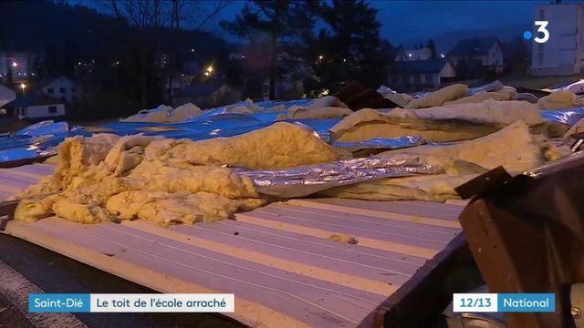 Tempête Ciara : le toit de l'école de Saint-Dié arraché