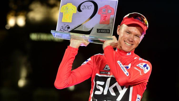 Chris Froome, vainqueur du Tour de France et de la Vuelta en 2017 (JOSE JORDAN / AFP)