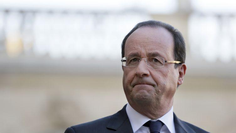François Hollande au palais de l'Elysée (Paris) le 11 décembre 2012. (KENZO TRIBOUILLARD / AFP)