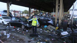 L'accident à la barrière de péage de Saint-Isidore, à Nice, a fait un mort et plusieurs blessés. (MAXPPP)