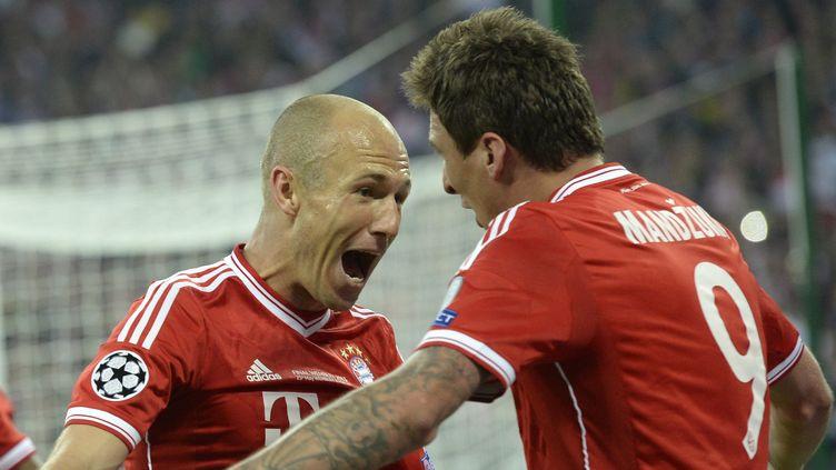 Robben et Mandzukic (Bayern Munich) (CHRISTOF STACHE / AFP)