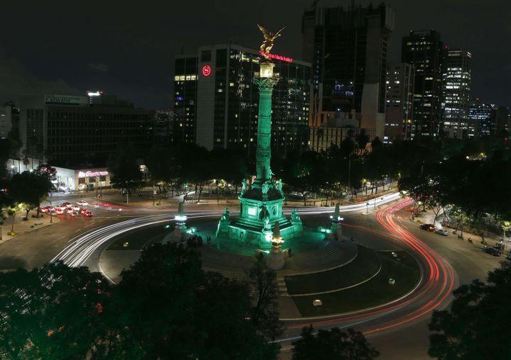 La Colonne de l'Indépendance, à Mexico (Mexique), le 1er juin 2017. (MARCO UGARTE /AP/ SIPA)