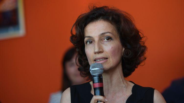La ministre de la Culture, Audrey Azoulay, le 16 juillet 2016 aux Francofolies de La Rochelle. (XAVIER LEOTY / AFP)