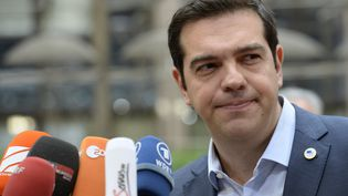 Le Premier ministre grec, Alexis Tsipras, le 12 juillet 2015 à Bruxelles (Belgique). (THIERRY CHARLIER / AFP)