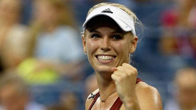 La Danoise Caroline Wozniacki tout sourire