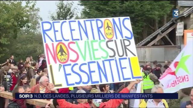 Notre-Dame-des-Landes : forte mobilisation contre le projet d'aéroport
