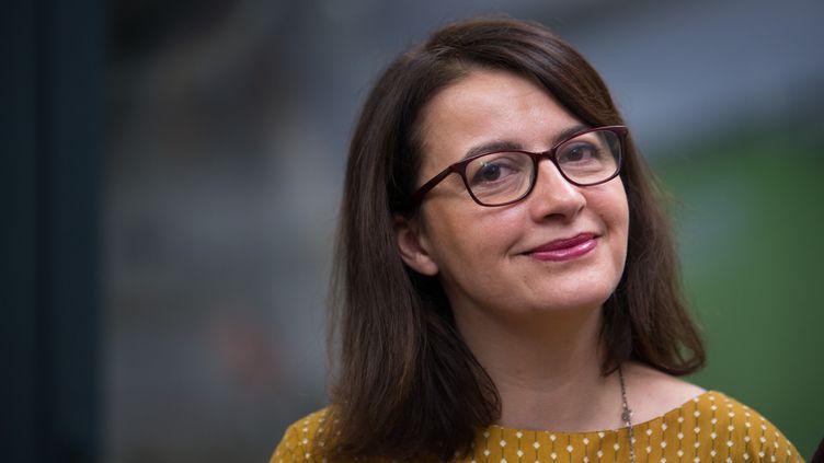 Cécile Duflot, le 11 janvier 2017, lors d'une conférence de presse du partiEurope Ecologie-Les Verts. (QUENTIN VEUILLET / CROWDSPARK / AFP)