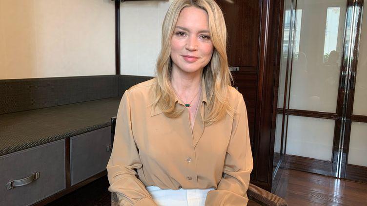 """L'actrice Virginie Efira joue le rôle principale du film """"Benedetta"""" en compétition à Cannes. (MATTEU MAESTRACCI / RADIO FRANCE)"""