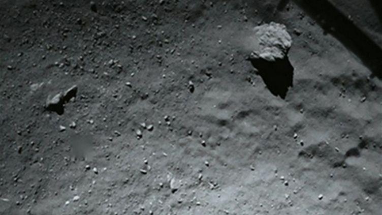(L'une des photos les plus récentes prises par Philae, à 40 mètres de la comète © ESA)