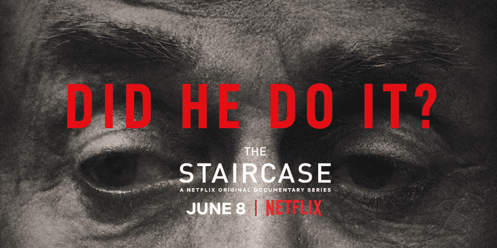 """L'affiche de """"The Staircase"""" pour sa sortie au format 13 épisodes, dont 3 inédits, le 8 juin sur Netflix.  (Netflix)"""