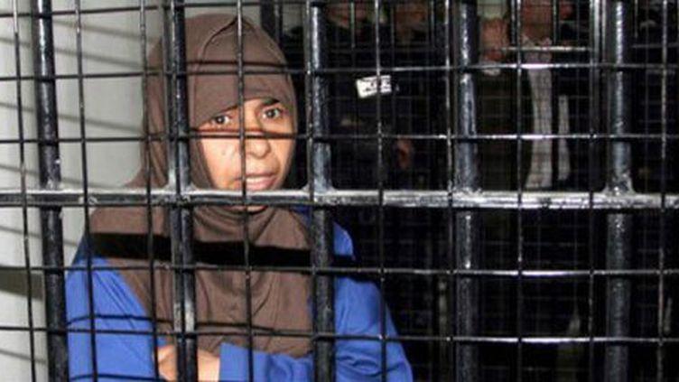 Sajida al-Rishawi lors de son procès à Amman, en Jordanie, le 24 avril 2006. (AFP/ Agence Petra )