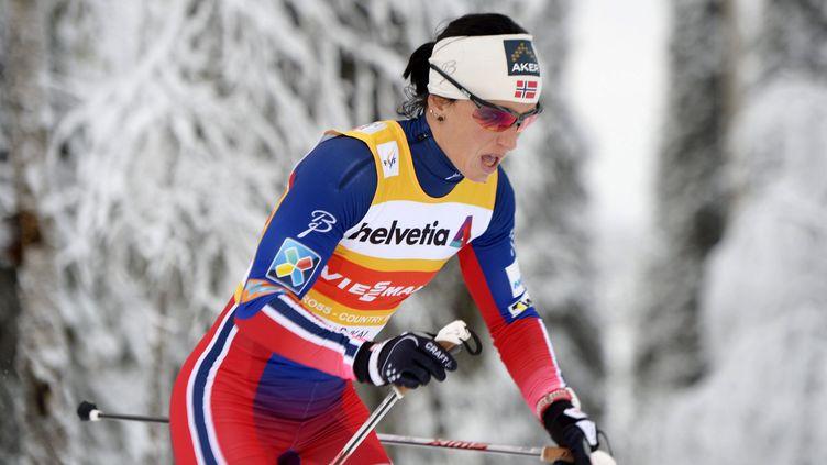 Marit Bjoergen démarre sa saison très, très fort... (MARTTI KAINULAINEN / LEHTIKUVA)