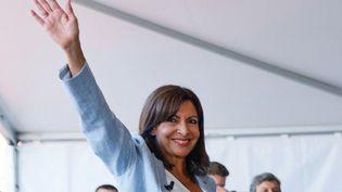 Anne Hidalgo, le 12 septembre 2021 à Rouen. (THOMAS SAMSON / AFP)