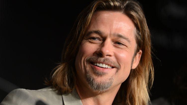 Brad Pitt au 65e festival de Cannes, le 22 mai 2012. (ANNE-CHRISTINE POUJOULAT / AFP)