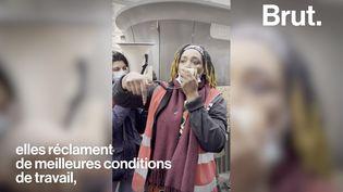 VIDEO. Les femmes de chambre de l'hôtel Ibis des Batignolles en grève depuis 20 mois (BRUT)