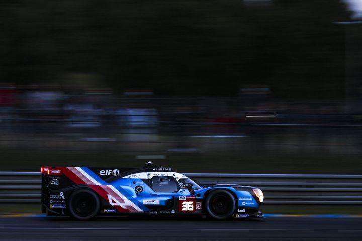 L'Alpine en piste sur le Circuit de la Sarthe au Mans, le 19 août 2021. (JOAO FILIPE / DPPI / AFP)