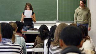 Des élèves dans une classe à Strasbourg (OLIVIER MORIN / AFP)